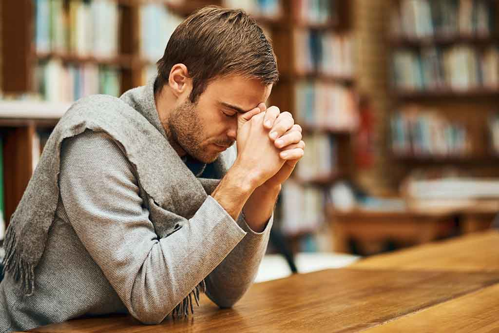 man during spiritual growth